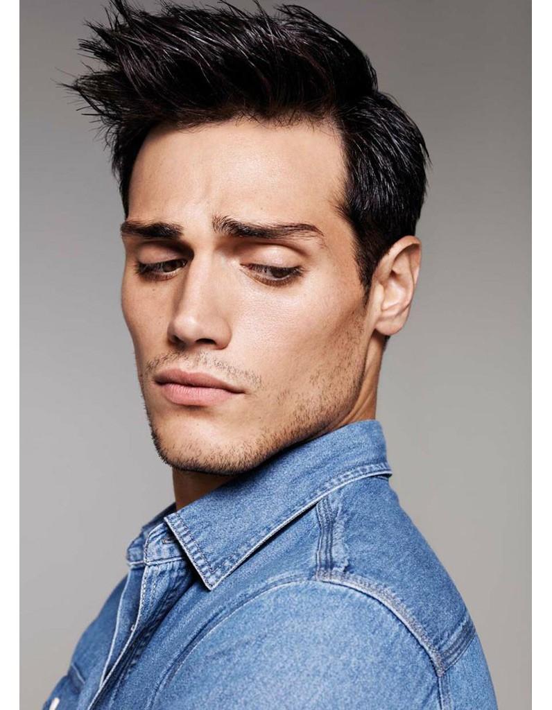 Coupe de cheveux homme court brosse
